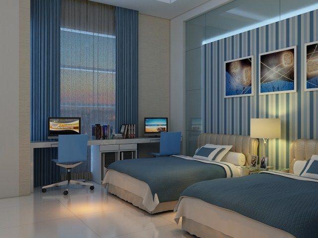 desain interior ruang tidur utama