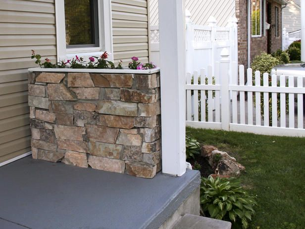 How To Build a Stone Planter    Dress up your porch or patio with a stone planter box.    More from Don't Sweat It