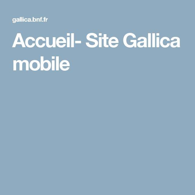 Accueil- Site Gallica mobile