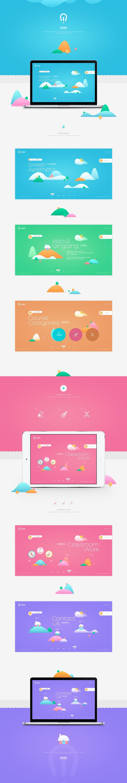 青青美育教育集团设计稿--设计作品频道-...@淘宝-飞梵采集到Web.Interface.Asia(1568图)_花瓣