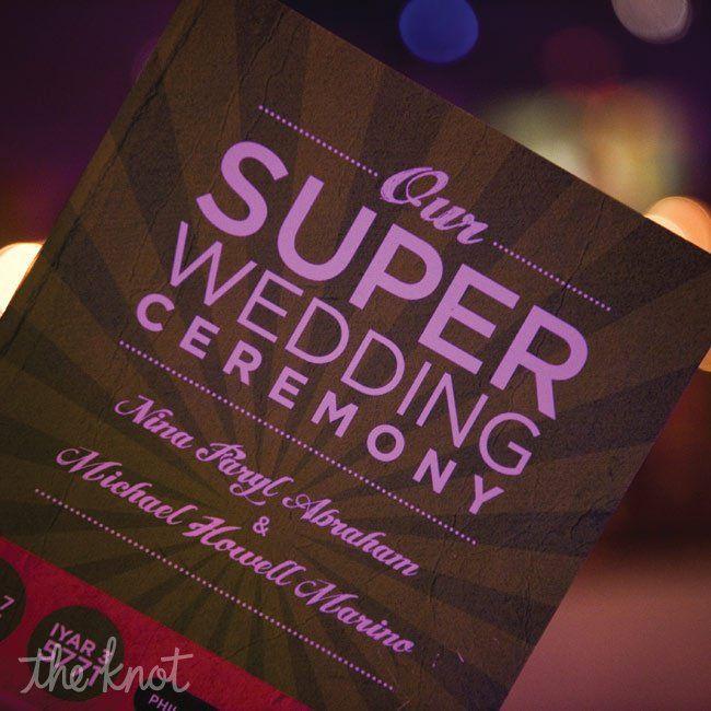 Super Hero Wedding Invitations