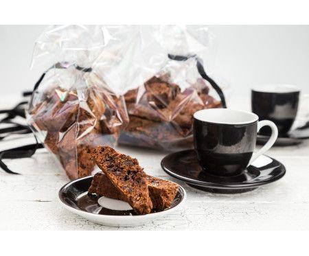 Fikonbiscotti med choklad