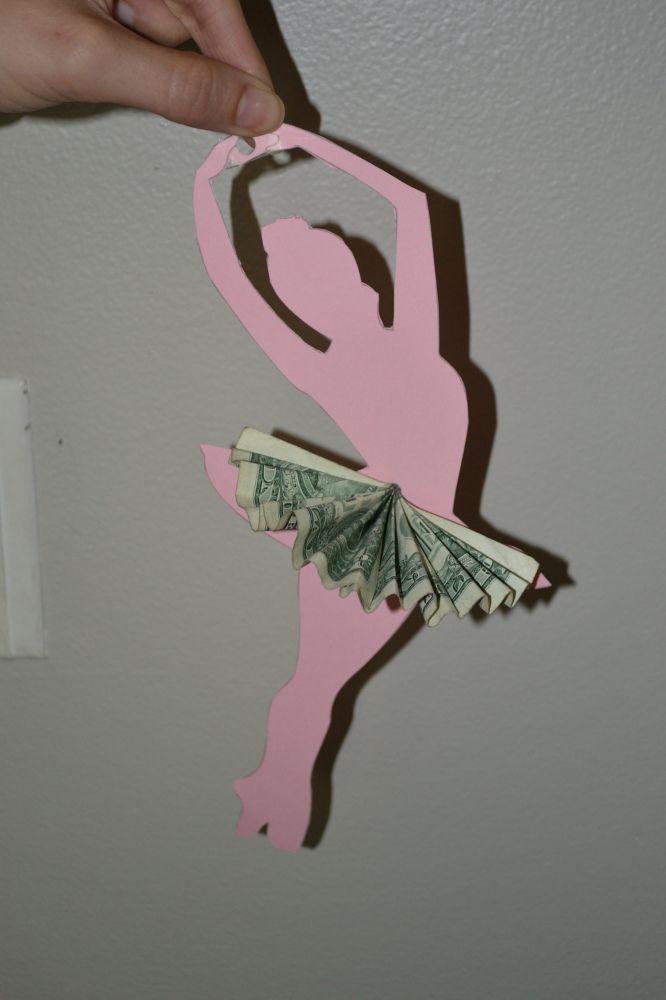 Creative way to give cash: a ballerina's tutu. :)
