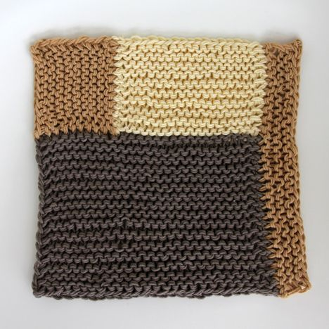 Knit Dishcloth Patterns Two Colors : 18 best images about 2 knit brioche free patterns on Pinterest Free pattern...