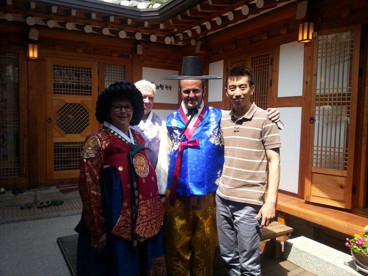"Bukchon Hanok Village(Korean Traditional House Village) and trying wearing Korean traditional attire ""Hanbok"". Visit with us www.toursbyaaron.com"