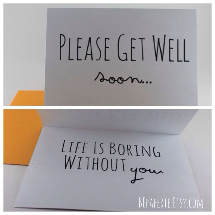 Get well soon card / Thinking of you card / Funny get well soon by ...