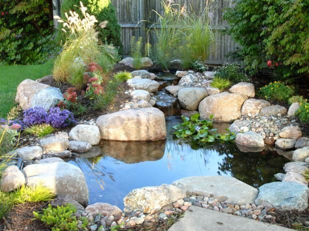 Now that you have installed your  pond  the last step is to add fish and aquatic plants (both optional) and any additional landscaping features you want to include around it such as sculpture, stepping stones, or garden art.