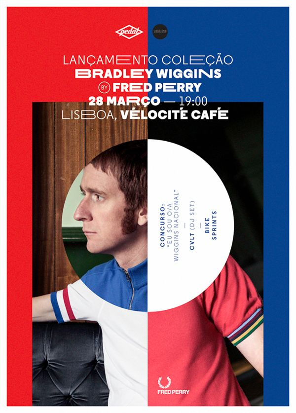 Fred Perry - Bradley Wiggins launch party by Bráulio Amado, via Behance #posterdesign, #graphicdesign, #typography #Art #Artdirector #poster #Artwork #VisualGraphic #Mixer #Composition #Communication #Typographic #Work #Digital #Design #pin #repin #awesome #nice #print