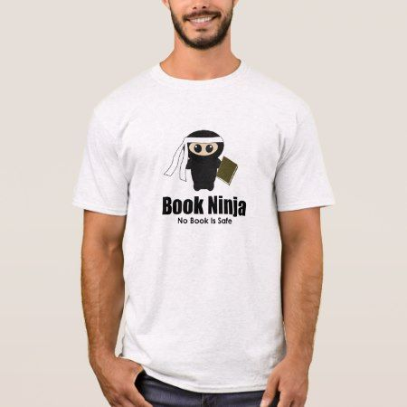 Book Ninja Shirt - tap, personalize, buy right now!