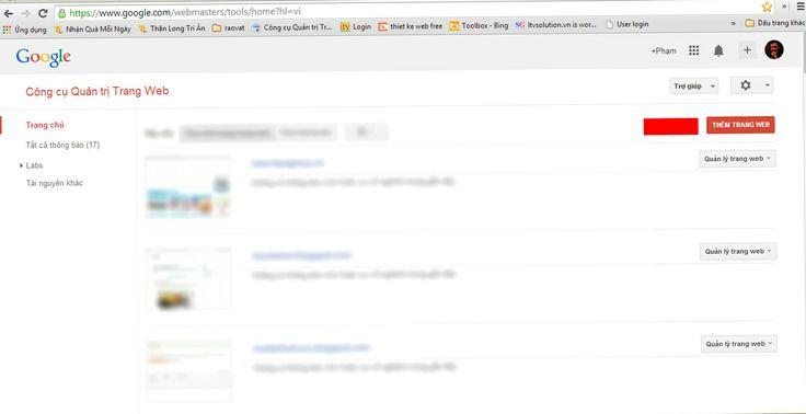 Thêm trang web vào Google Webmaster Tool