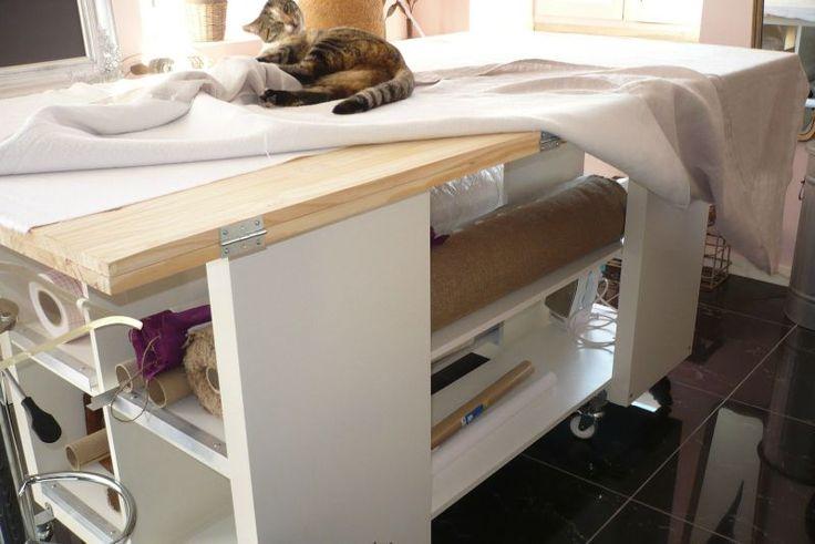 1000 id es sur le th me salles de couture sur pinterest. Black Bedroom Furniture Sets. Home Design Ideas