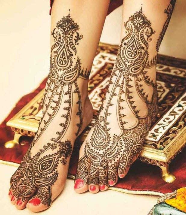 Latest Easy Mehndi Designs For Feet Ideas 2018,2019