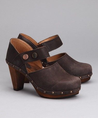 Tory clog (color: Dark Brown) #sanita #clogs #shoes