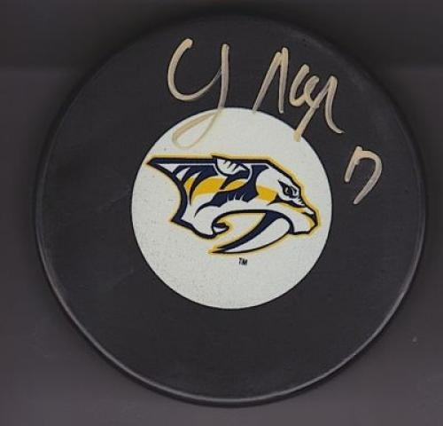 Chris Mueller Autographed Hockey Puck #SportsMemorabilia #NashvillePredators