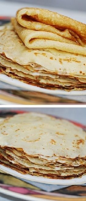 How to make paper-thin sweet crepes from scratch in a regular frying pan. Step-by-step photos and instructions