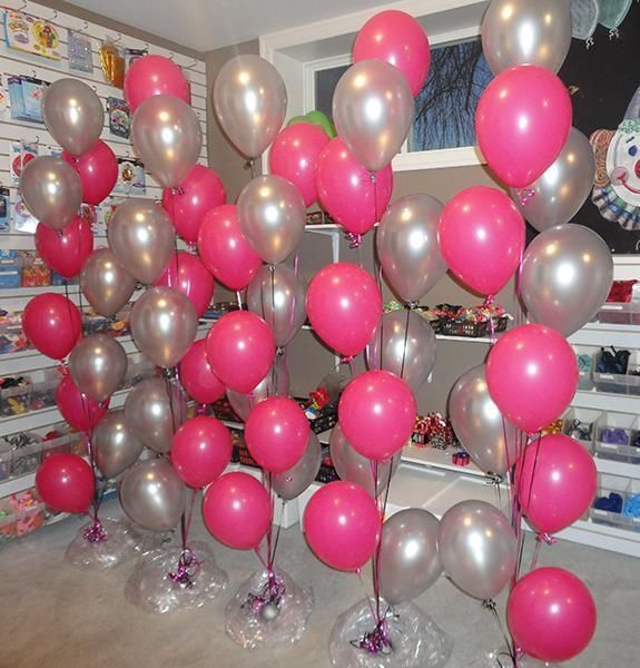 Metallic Hot Pink Silver Balloons 30PCE SET Party Decorations