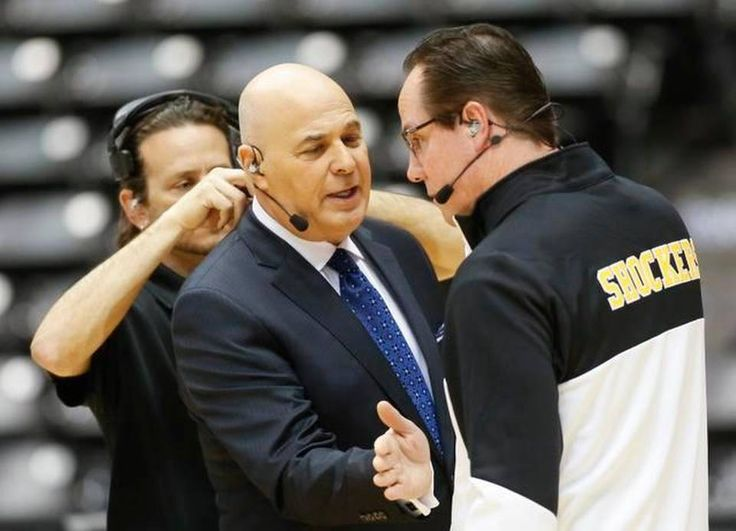 Wichita State coach Gregg Marshall chats with friend and College Gameday host Seth Greenberg.