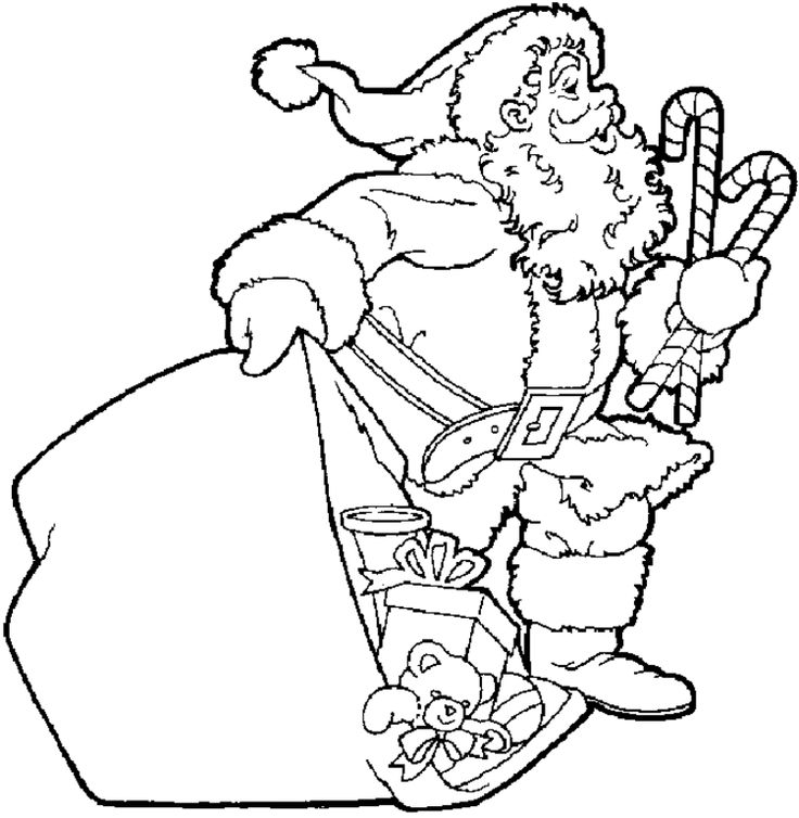 Home Christmas Santa Coloring Pages