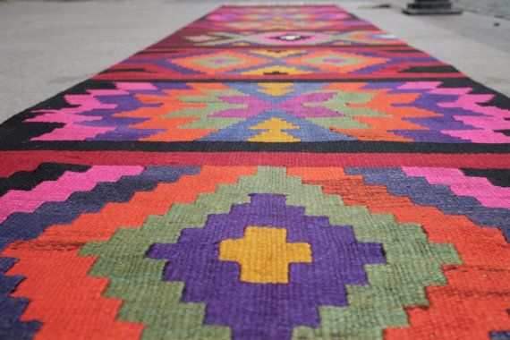12.6 x 2.5 feetkilim rug runnerrug runnerrunner by kilimci on Etsy