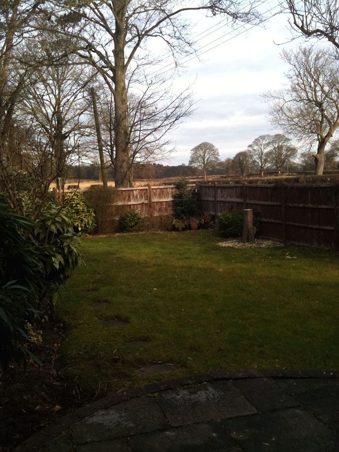 The garden before design and landscaping. The only real positives were the lovely rural views www.ebgardendesign.co.uk