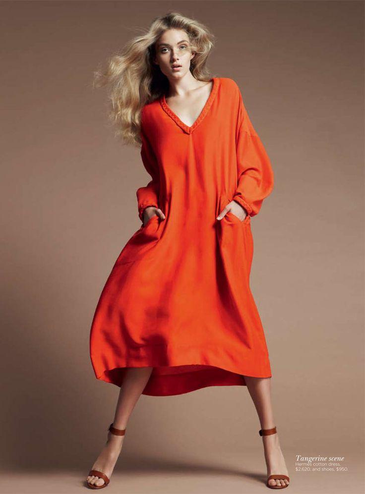 Tangerine Hermès dress!!