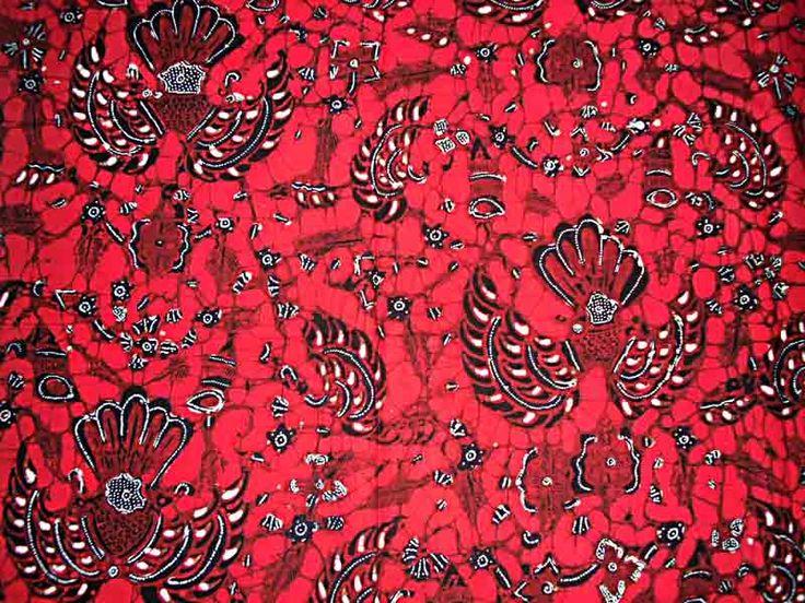 kain BATIK halus motif klasik-sidoasih merah cerah kombinasi