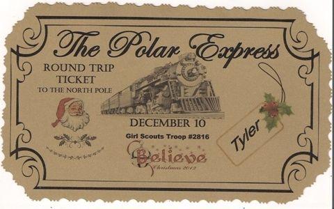 25 unique polar express tickets ideas on pinterest for Polar express golden ticket template