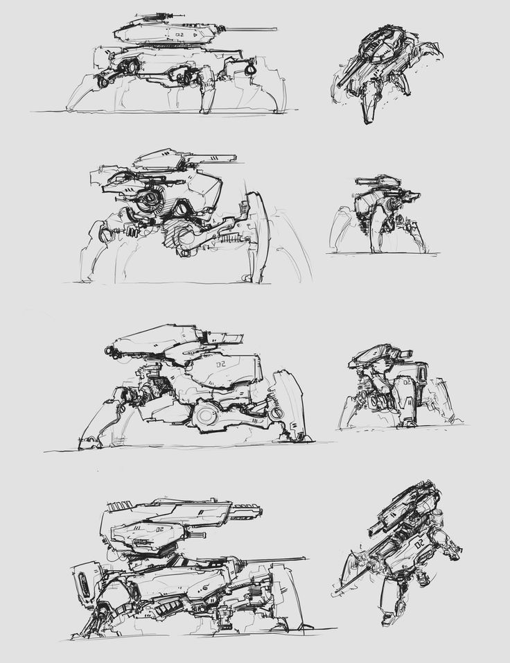 sketches - main battle robot 2 by ProgV.deviantart.com on @deviantART