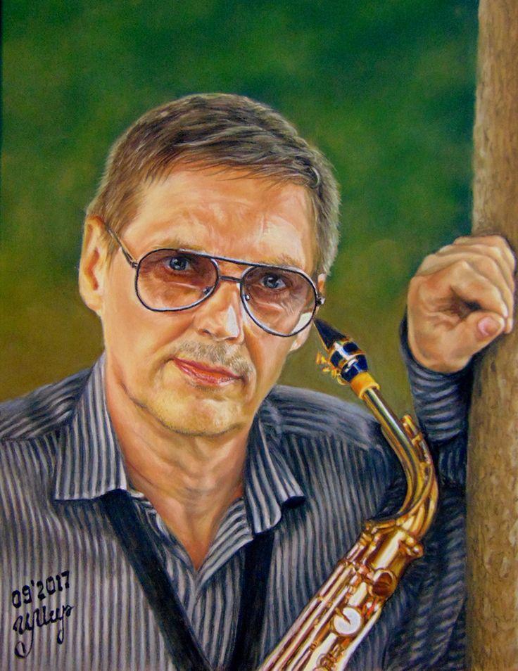 Pastel painting,  Pastelmat,                                35x27 cm