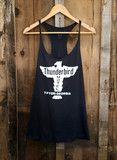 Thunderbird Motel Racer Tank Blk/White   Bandit Brand General Store