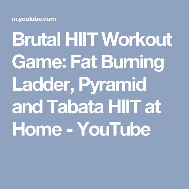 Brutal HIIT Workout Game: Fat Burning Ladder, Pyramid and Tabata HIIT at Home - YouTube