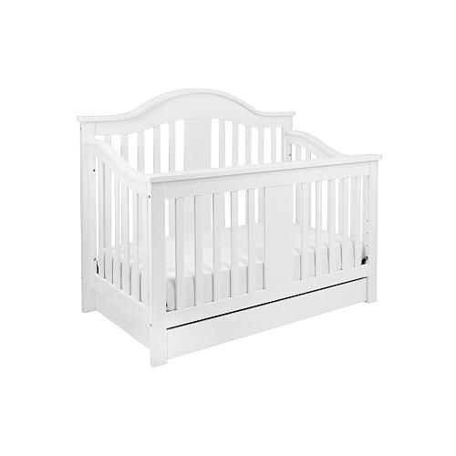 million dollar baby classic cameron 4 in 1 convertible crib with toddler rail white million. Black Bedroom Furniture Sets. Home Design Ideas