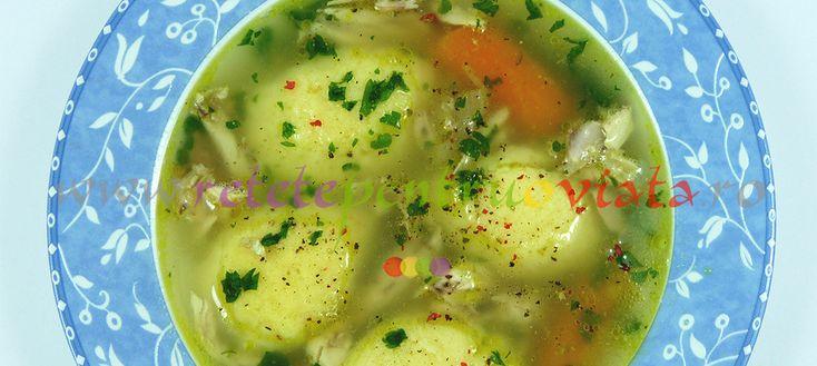 #Reteta de supa de pui cu galusti. Supa de pui cu galusti este o supa foarte gustoasa, aromata si usor de gatit.