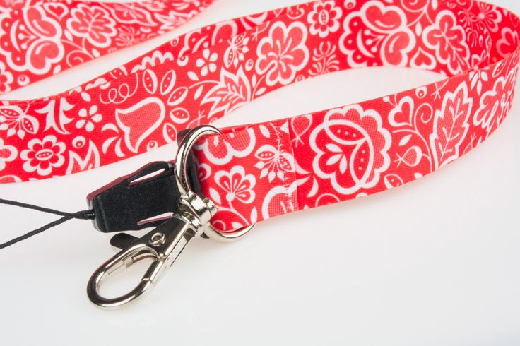 Smycz do kluczy FOLK - kujawska czerwona 2 cm