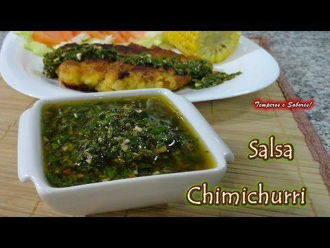 SALSA CHIMICHURRI la original - receta en español, molho chimichurri subtitulos em português - YouTube