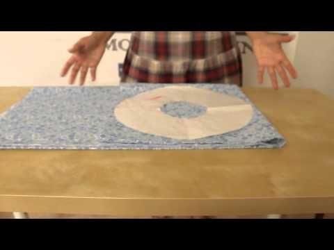 Cortar volantes rápido y aprovechando tejido - YouTube