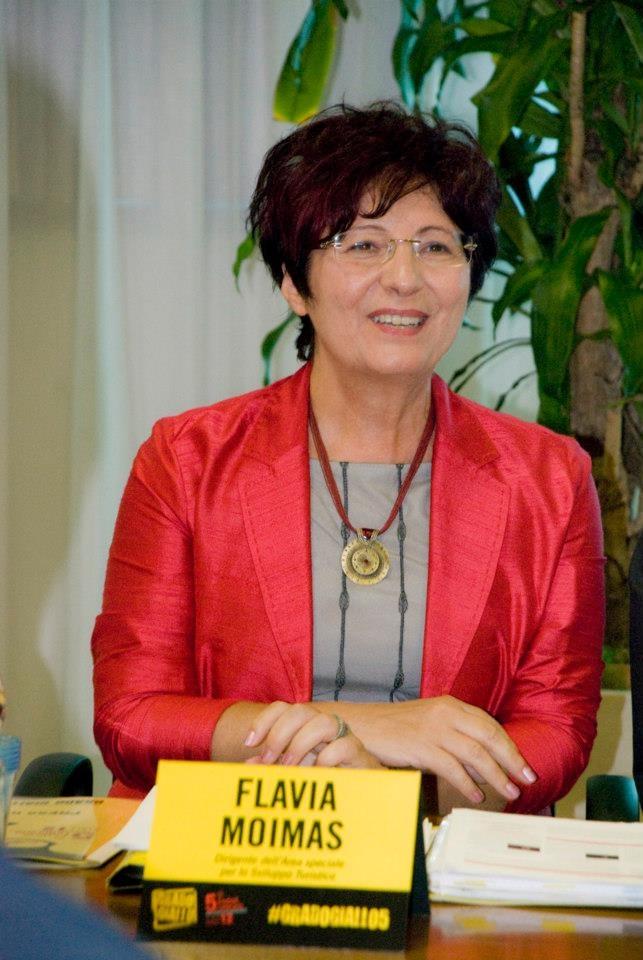La dott.ssa Flavia Moimas, Dirigente dell'Area speciale per lo Sviluppo Turistico