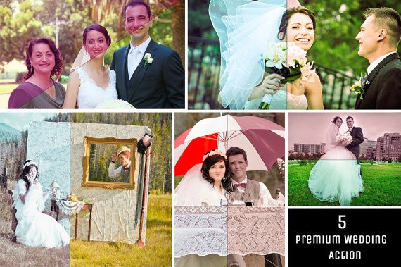 Sale 50 OFF  5 Premium Wedding Actions Photography by ONESMFA, $3.00