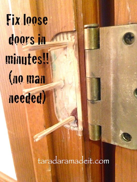 QUICK WEEKEND PROJECT. Got a Screw Loose?  This is such an easy fix for the door with a loose screw that will not keep the hinge nice and tight. See how to fix it yourself!