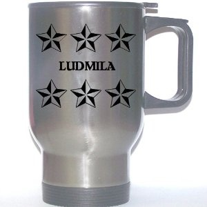 "Image detail for -... Gift - ""LUDMILA"" Stainless Steel Mug (black design): Everything Else"