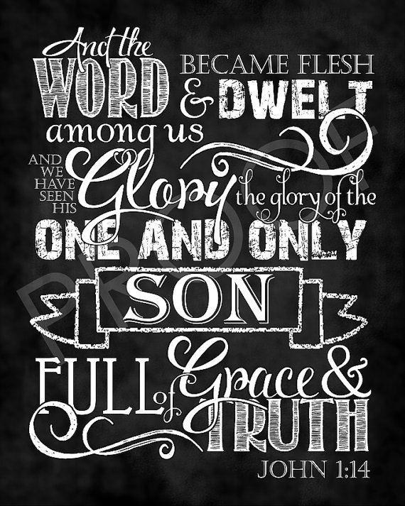 Art de l'écriture John 01:14 Style par ToSuchAsTheseDesigns