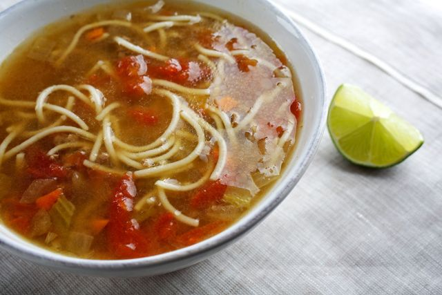 Vermicelli, Meat and Tomato Soup, Egyptian style soup recipe
