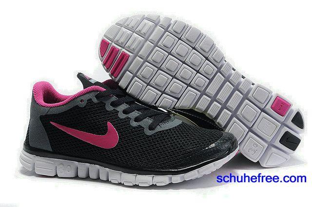 Damen Nike Free 3.0 V2 GroBe Net Schwarz Peach Blossom
