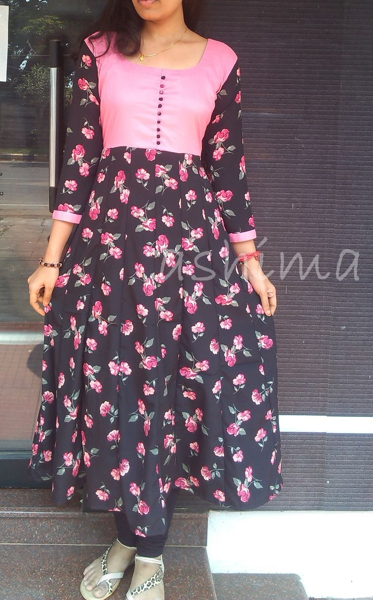 Code:1503164-Floral Anarkali - Price INR:1950/-
