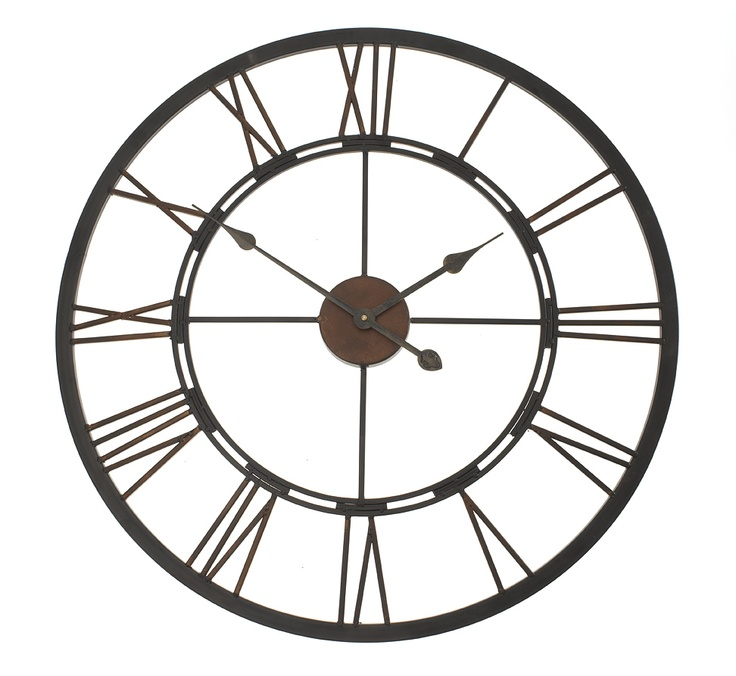 iron outdoor garden wall clock from earth homewares wall