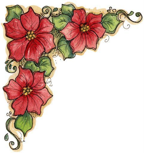 Esquina para imprimir de flores-Imagenes y dibujos para imprimir                                                                                                                                                                                 Más