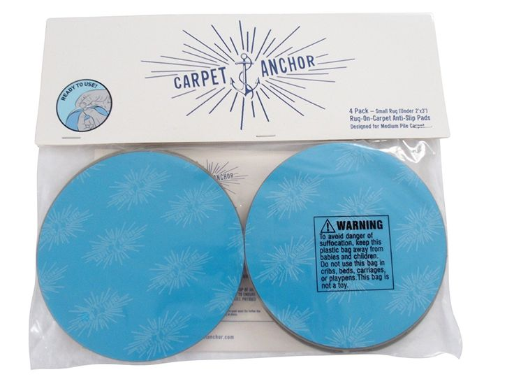 Amazon.com: Non-Slip Rug Pads For RUG-ON-CARPET ANTI-SLIP. DESIGNED FOR MEDIUM PILE CARPET. 4 Pack. Intended To Limit SMALL Rugs/Exercise Mats/Door Mats From Moving On MEDIUM PILE CARPET. BRAND NEW DESIGN!: Kitchen & Dining