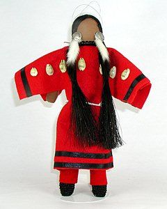 Authentic Native American Lakota no-face doll. Diane Tells His Name is a (CIB) registered member of the Oglala Lakota tribe of Pine Ridge, South Dakota.