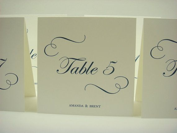 Wedding Table Number Tent Design Elegant Calligraphy Style Swirls and Script Font for Your Wedding Reception Table Decor & 76 best Wedding Table Numbers images on Pinterest | Wedding table ...