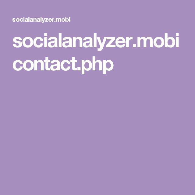 socialanalyzer.mobi contact.php